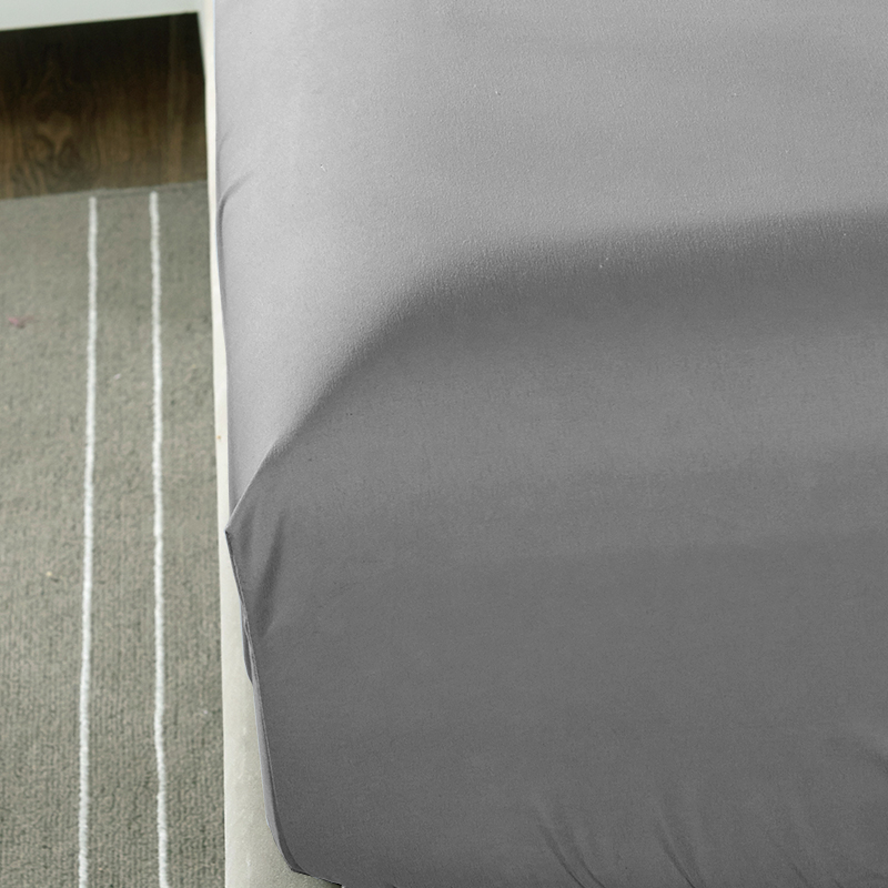 New Polyester Cotton Bed Sheet Printed Sheet With Elastic Band Mattress Cover Hot Sale Solid Color Fitted Sheet with Rubber Band in Sheet from Home Garden