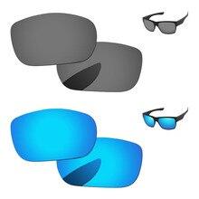 Голубой и черный хром 2 пары зеркальные поляризованные Сменные линзы для Солнцезащитные очки Рамка UVA и UVB Защита