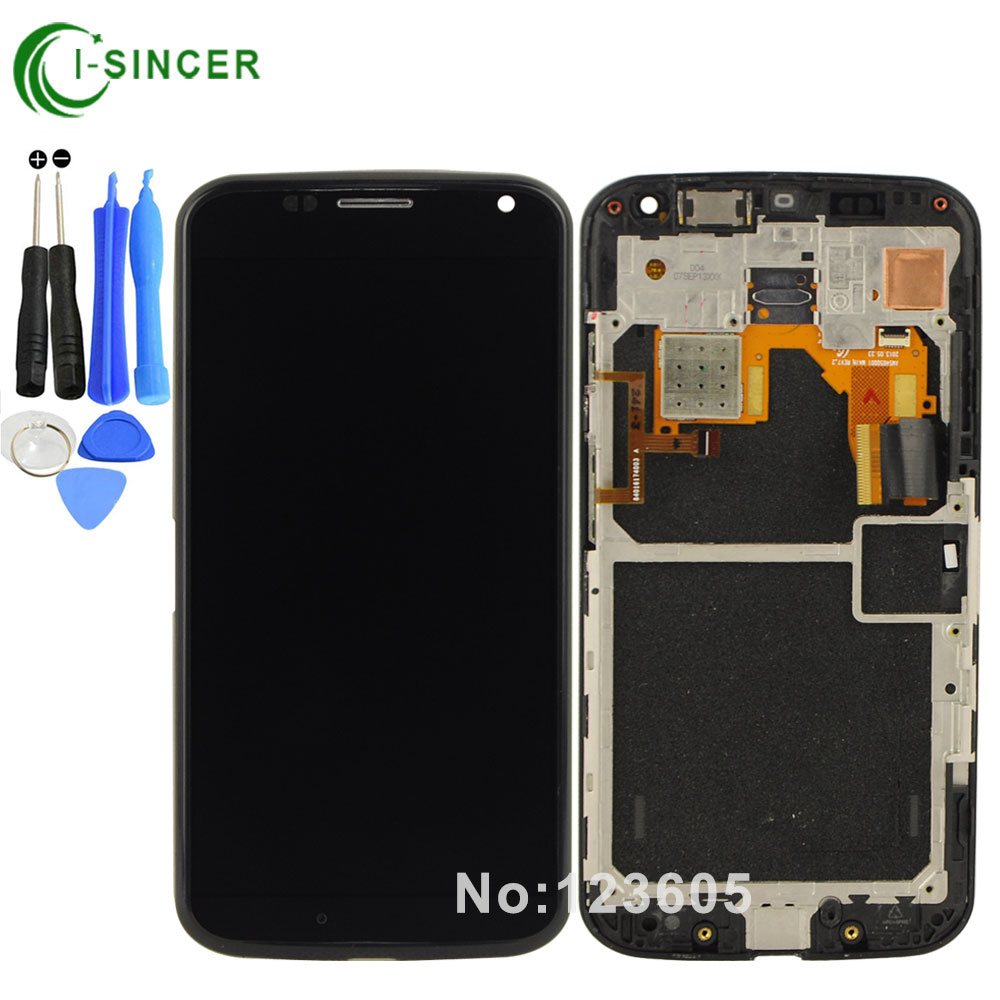 imágenes para Blanco, Negro Para Motorola Moto X XT1056 XT1058 XT1060 XT1052 LCD de Pantalla Táctil Digitalizador con Marco + Herramientas envío Gratis