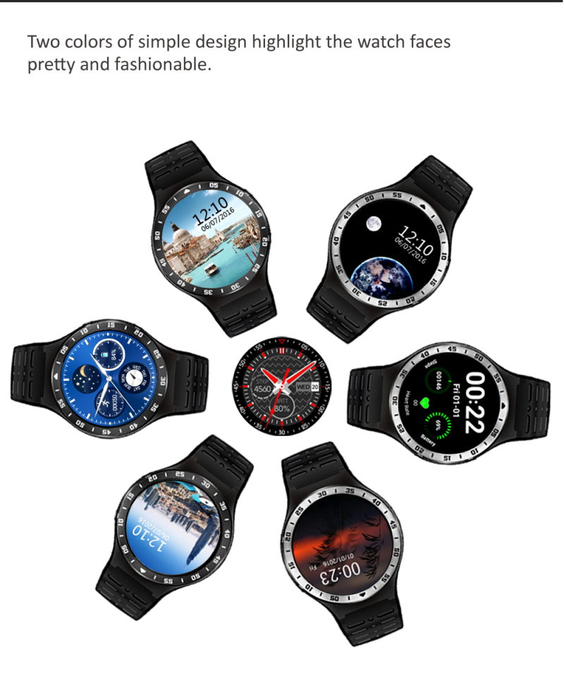 ZGPAX S99A Quad Core 3G Smart Watch Android 5.1 512RAM 8GB ROM GPS WiFi Bluetooth V4.0 Pedometer Heart Rate MTK6580 SmartWatch jrgk kw99 3g smartwatch phone android 1 39 mtk6580 quad core heart rate monitor pedometer gps smart watch for mens pk kw88