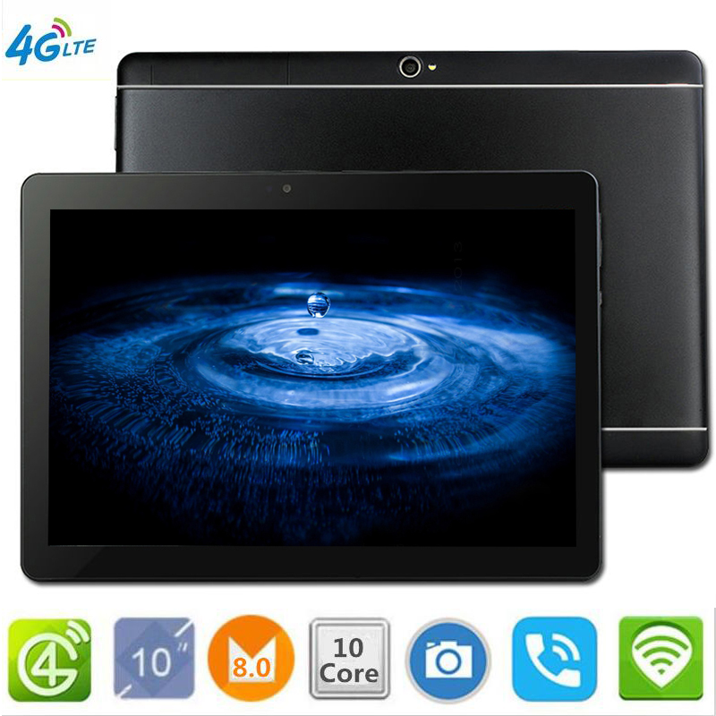 CARBAYTA The Tablet  S109 10.1' WIFI 10 Core 128GB ROM Dual Camera 8MP Android 8.0 Tablet PC 4G LTE GPS Bluetooth Phone MT6797