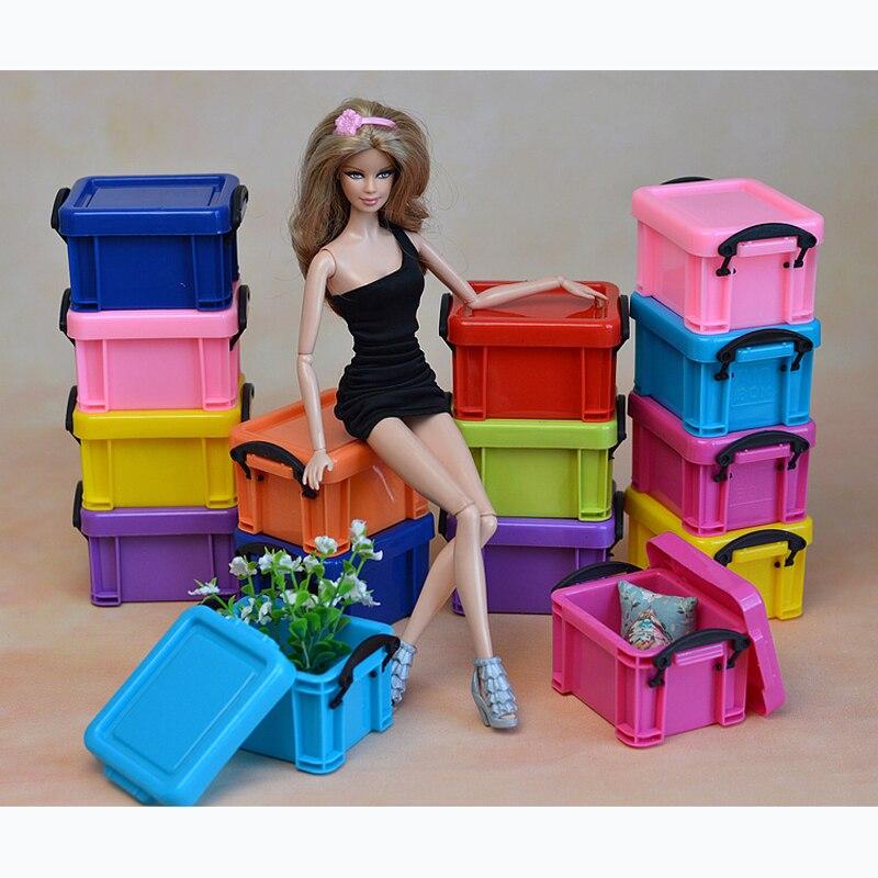 Натуральная пластиковая Обувь Одежда Организатор коллектор Box для Барби Монстр Inc высокое аксессуары Кукольный дом мебели ...