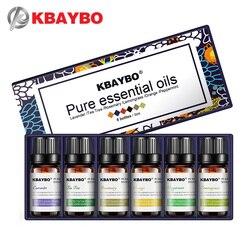 Aceites esenciales para difusor, humidificador de aceite de aromaterapia 6 tipos de fragancia de lavanda, árbol del té, Rosemary, Lemongrass, naranja