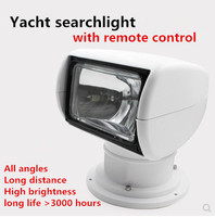 Remote Control Searchlight Spotlight Marine Boat truck car 12v 24v searching lamp for yacht halogen bulbs 100W