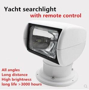 Image 1 - Sterowanie zdalne szperacz Spotlight Marine Boat ciężarówka samochodów 12 v 24 v wyszukiwanie lampa dla jacht żarówki halogenowe 100 W