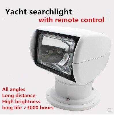 Télécommande Projecteur led Spotlight Marine de pêche Bateau croisière scanning12v 24 v recherche lampe pour yacht halogène bulbs100W