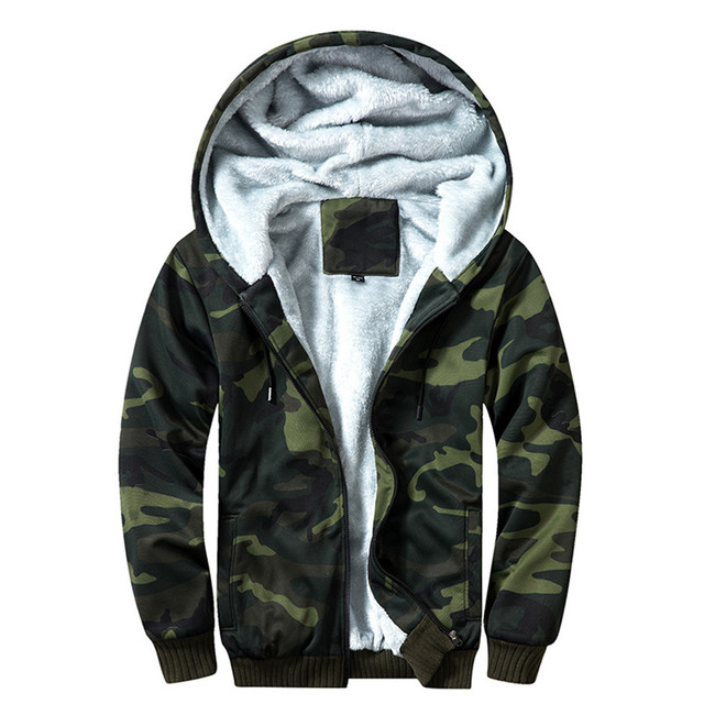 Autumn And Winter Military Camouflage Jacket For Men Fashion hooded Plus Velvet Coat Army Tactical Clothing Male Windbreakers 2