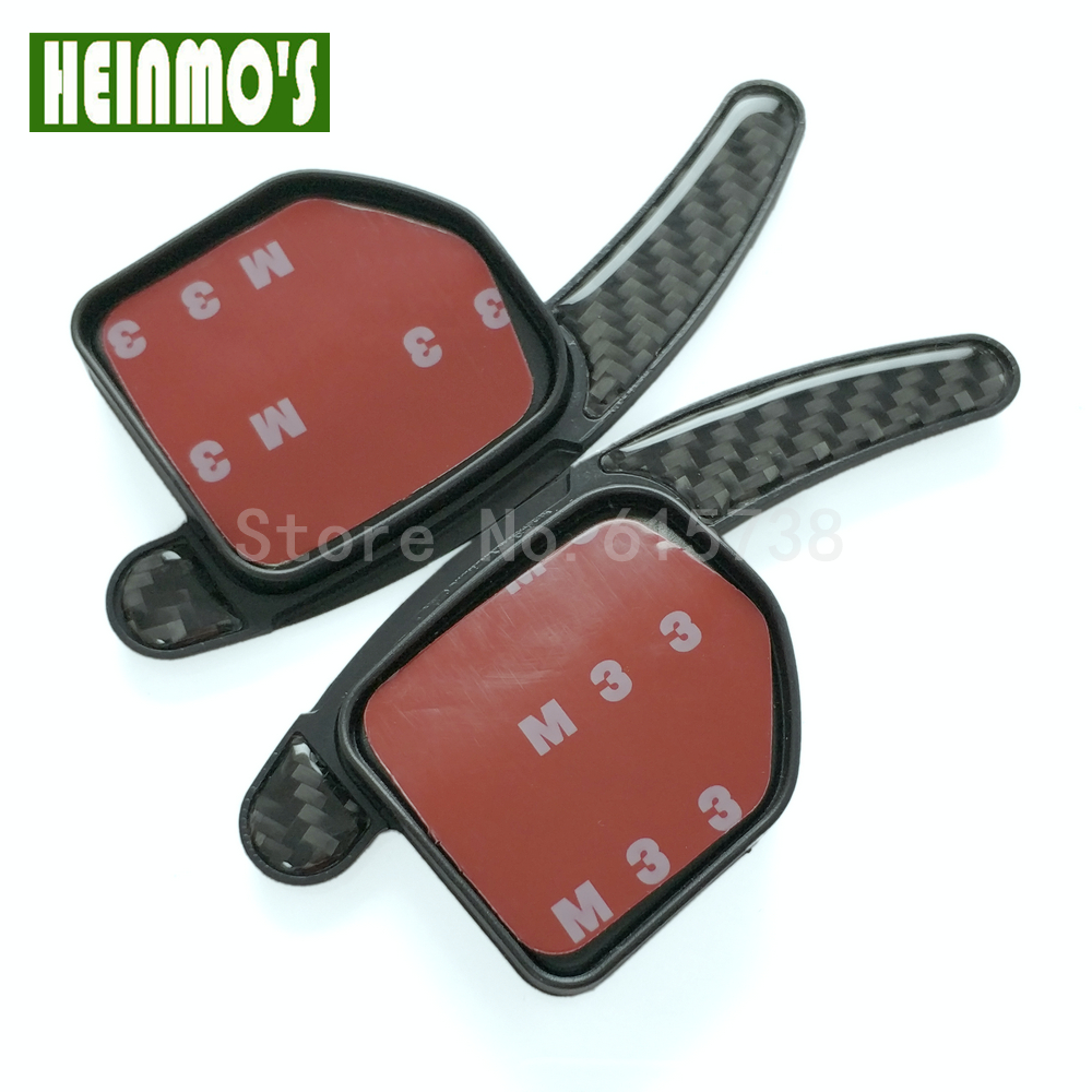 12V Car Auto Carbon Paddle Shift Extension For A1/A3/S3/RS3/A4/S4/RS4 2011 Wheel Shift Paddle Fiber Paddle Shift Extensions