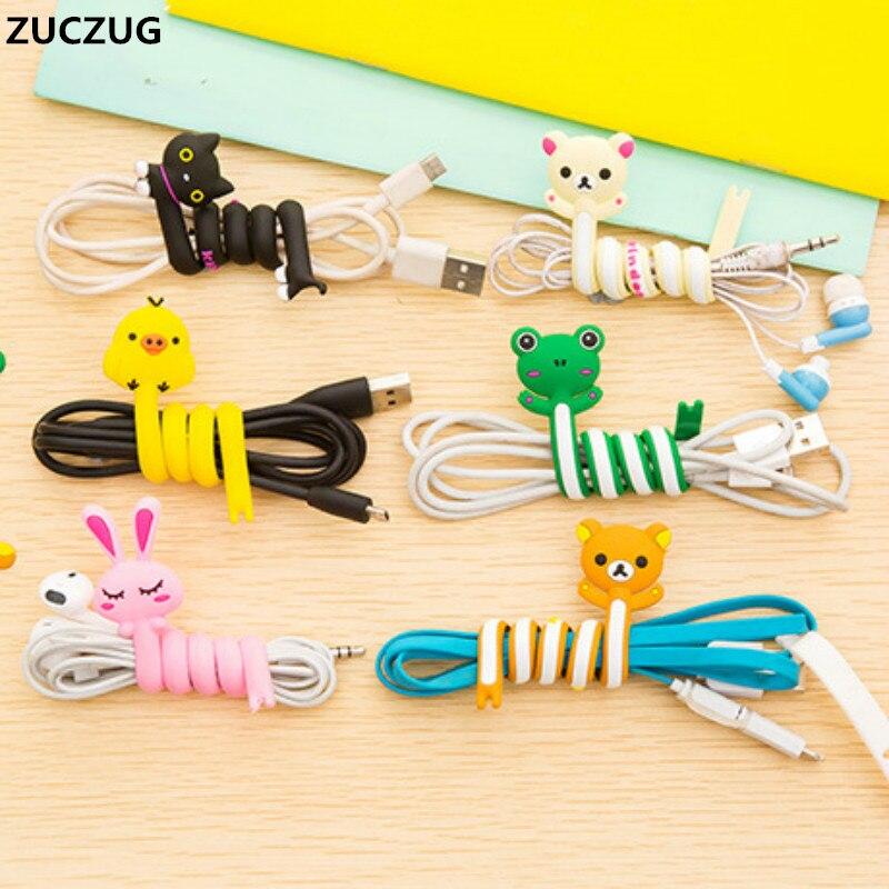 ZUCZUG Cute Cartoon Earphone Wire Cord font b Cable b font font b Winder b font