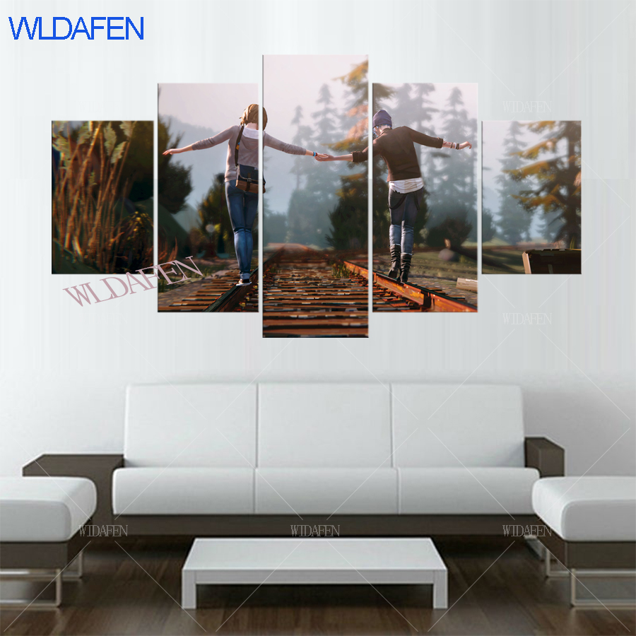 A387 Life is Strange Before the Storm Games Poster Home Decor Painting 5 Pieces HD Printed Modular poster Lying beauty ...