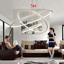 NEO Gleam Moderne Acryl Kronleuchter LED Kreis Ringe Hngen Anhnger Lichter Fr Wohnzimmer Lustre