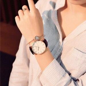 Image 2 - Женские наручные часы zegarek damski, роскошные брендовые кварцевые часы с белым циферблатом, браслет для женщин, новинка 2019