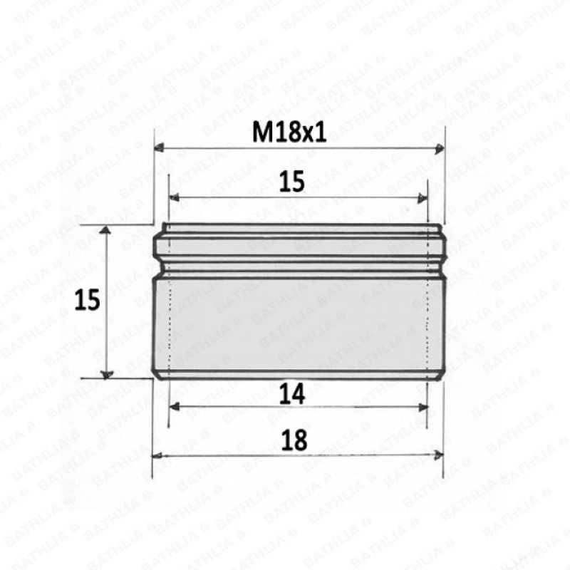 M18 водосберегающий кран аэратор кран регулятор потока Мужская резьба M18 * 1 6L кухонный кран насадка, аэратор латунь внешний