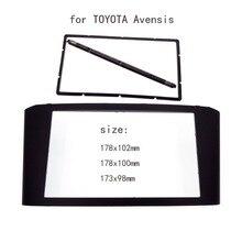 Автомобилей радио фризовая для toyota avensis переходная панель стерео лицевую панель аудио Панель Переходная даш Комплект Для Монтажа Адаптера Отделки 2din DVD Кадров