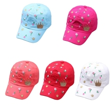 Fashion Floral Pattern Caps Baby Hat Children Baseball