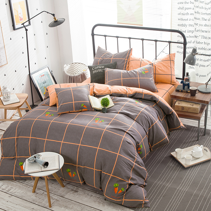 100% cotton dinosaur love rabbit Beddingset 4pcs duvet cover sheet pillowcases
