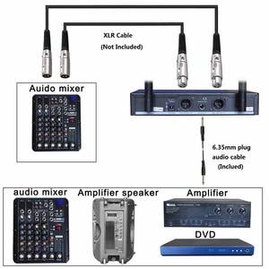 Image 5 - FREEBOSS FB U10 2 Way черный серебристый золотой металлический Ручной беспроводной микрофон для вечерние НКИ Караоке микрофонная система