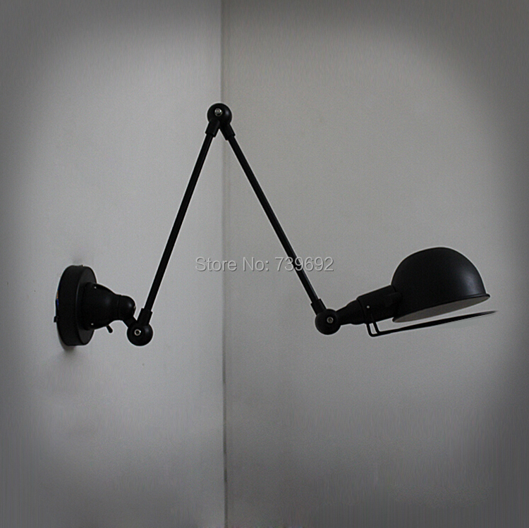 Retro Two Swing Arm Wall Lamp Metal Shade Sconces Mount Double Lamps With Edison Bulbs In From Lights Lighting On Aliexpress