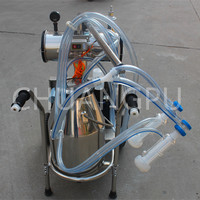 Stainess Steel Double Buckets High Configuration Cow/Sheep Milking Apparatus Machine