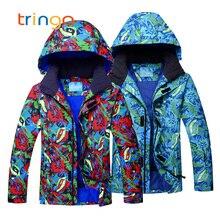 Мужские лыжные костюмы, зимняя утолщенная теплая зимняя одежда для мужчин, водонепроницаемые ветрозащитные лыжные куртки+ штаны, комплекты для сноубординга, мужские костюмы