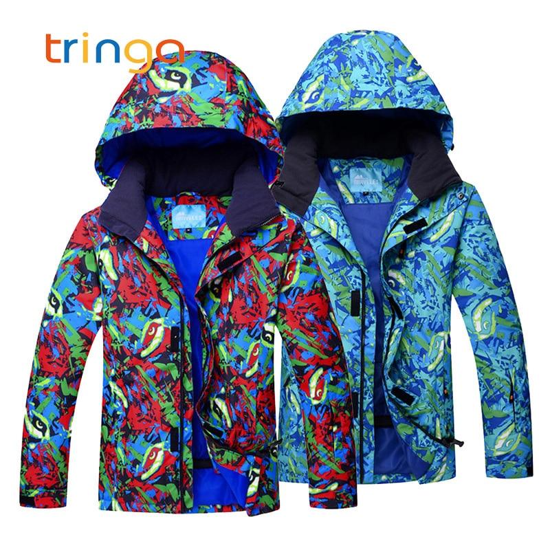 Costumes de Ski pour hommes hiver épaissir vêtements de neige chauds hommes imperméable coupe-vent vestes de Ski + pantalons ensembles costumes de snowboard homme