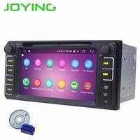 JOYING 2 GB + 32 GB Android 6.0 GPS Car Stereo Player Quad core Dupla Rádio 2din Para Toyota Universal Corolla Camry Com OBD2