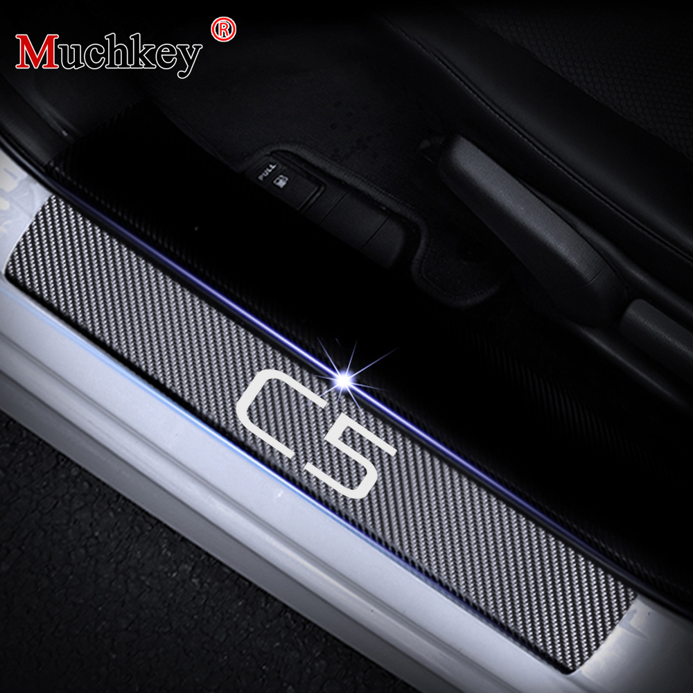 Door Sill Scuff Plate For Citroen C5 Threshold Entry Guard Car Sills Car-styling Auto Part Accessories 4Pcs