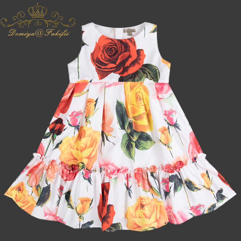 Princess Dress Sleeveless 2018 Brand Baby Girls Dress Vestidos Kids Party Dresses for Wedding Girls Clothes Children Costume цена 2017