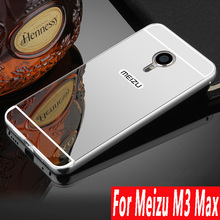Luxury Aluminum For Meizu M3 Max Phone case Metal Frame Acrylic Mirror Back Cover meizu m3 max Protective Cases For Meizu m3max cheap NoEnName_Null Fitted Case Aluminum Metal Frame + Plastic Brush Back 2in1 C 6 0 inch Dirt-resistant Aluminum Metal Frame + Plastic Brush Back 2in1 Cover