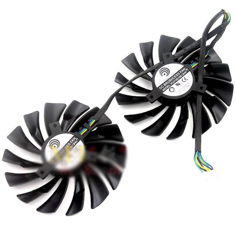 2pcs/set for MSI GTX980 970 960 PLD10010S12HH 95mm Graphics cooling fan msi gtx970 gtx980 gtx980ti graphics card cooling fan