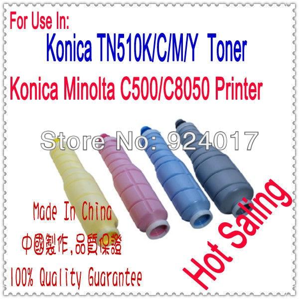 Toner Cartridge For Konica Minolta Bizhub Pro C500 C8050 Color Copier,For Konica C8050 C500 TN510K TN510C TN510M TN510Y Toner high capacity iu410 k iu310 c m y drum unit chip for konica minolta bizhub c350 c351 c450 450 color copier image cartridge reset
