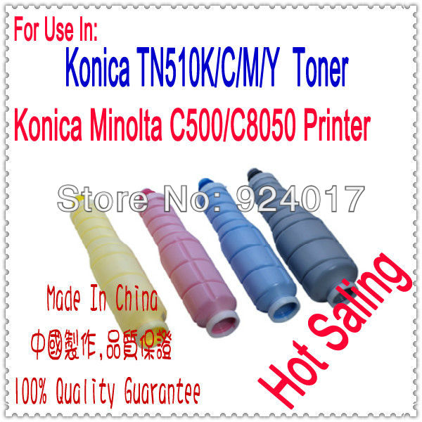 Toner Cartridge For Konica Minolta Bizhub Pro C500 C8050 Color Copier,For Konica C8050 C500 TN510K TN510C TN510M TN510Y Toner new original 40aa88030 for konica minolta pro c500 cf5001 colorforce 8050 65 75 85 toner remainder detect sensor 4014 1742 01