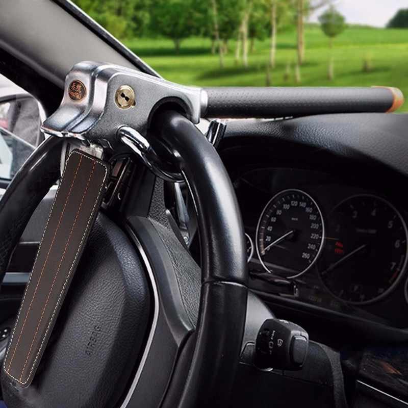 Auto dobrável bloqueio de carro montagem superior volante bloqueio anti roubo segurança airbags bloqueio com chaves anti-roubo dispositivos