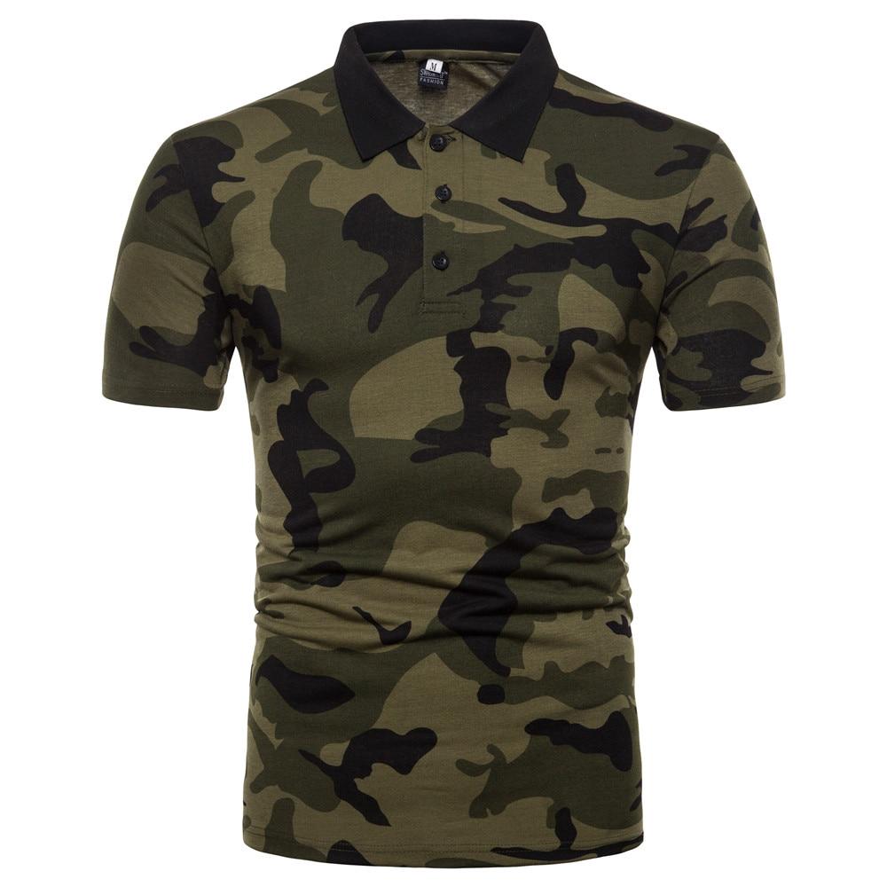 camouflage designer men   polo   shirt short sleeve 2018 summer new   polo   luxury men slim fit