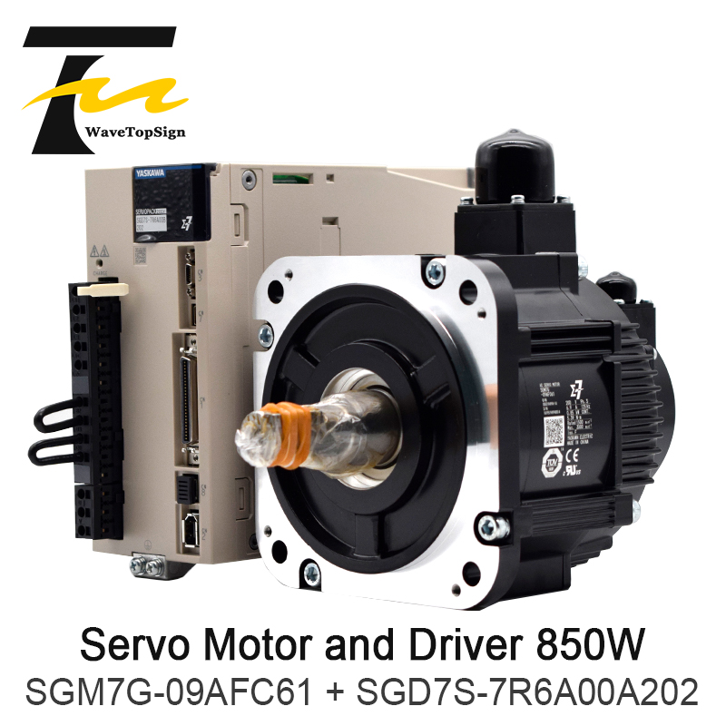 YASKAWA 850W Servo Motor SGM7G 09AFC61 Driver SGD7S 7R6A00A202 Connection Cable 5Meter