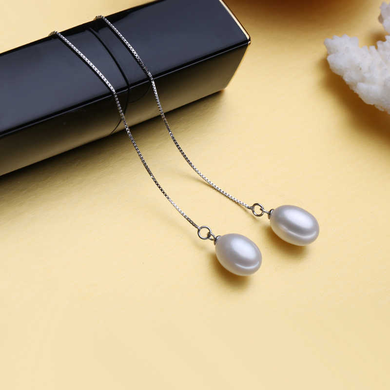 FENASY Pearl Jewelry wedding engagement jewelry sets,Natural Pearl pendant Necklace women/drop earrings,fashion long earrings