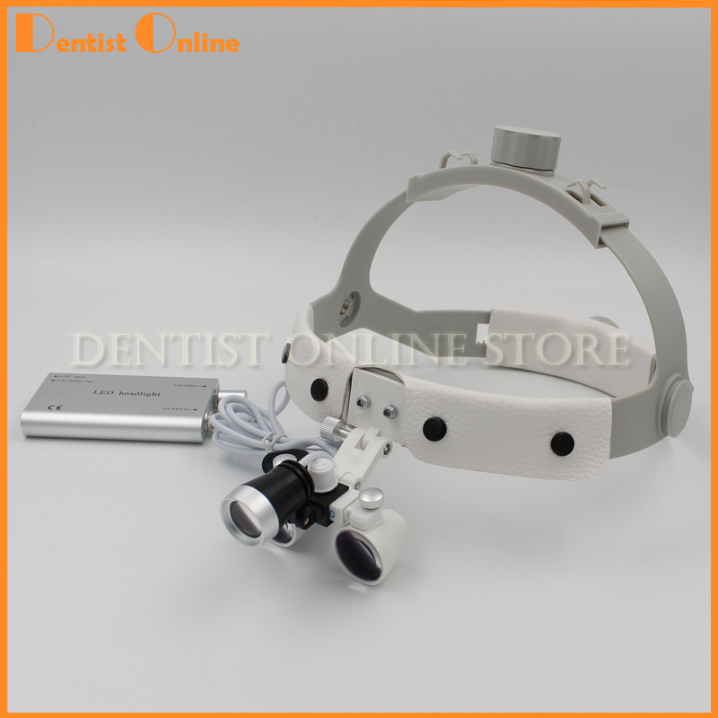 2.5x 3.5x Portable LED Head Light Lamp for Dental Surgical Medical Binocular Loupes цена 2017