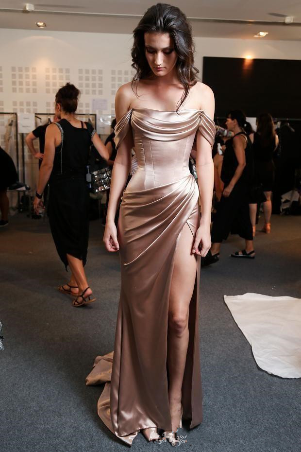 Hot Sale Prom Dress Long Off Shoulder Sexy High Slit Prom Gown Women Party Evening -9568