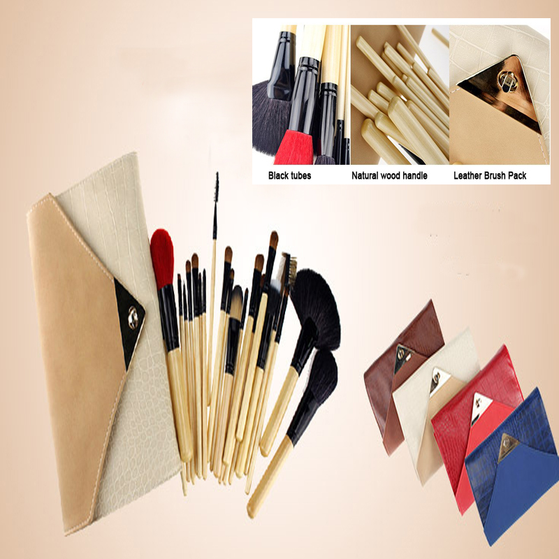 new 4colors professional makeup brushes 22 Pcs Cosmetic Makeup Brush Set /Foundation Brushes for make up/Envelope bag hand bag professional cosmetic makeup brushes in a pink pu bag