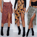 Женская юбка, летняя, модная, сексуальная, с принтом, с высокой талией, асимметричная, с разрезом, юбка-карандаш, повседневная, 2020 f10
