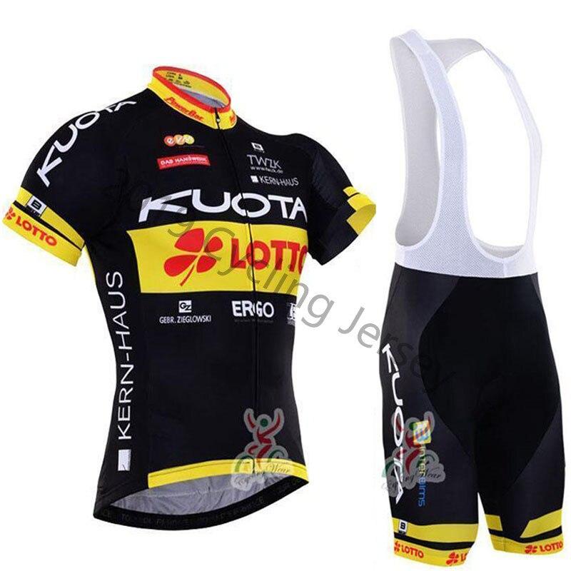 KUOTA 2019 nova equipe pro camisa de ciclismo definir Bicicleta MTB Roupas homens Verão quick dry bicicleta de corrida roupas ropa ciclismo hombre