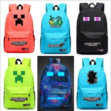 Luminous Student School Bag Backpack For Boys girls Daypack Multifunction Minecraft Black Mochila Escolar