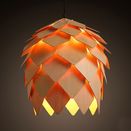 American Multilayer Pine cone led hanging lamp Wooden modern pendant lighting wood chips Round cord pendant lightAmerican Multilayer Pine cone led hanging lamp Wooden modern pendant lighting wood chips Round cord pendant light