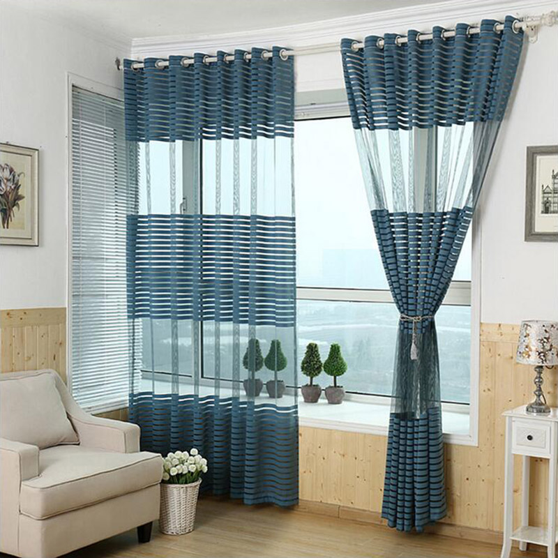 popular stripe window curtains buy cheap stripe window curtains lots from china stripe window. Black Bedroom Furniture Sets. Home Design Ideas
