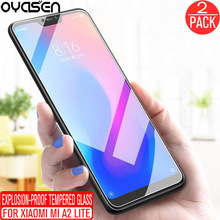 2Pcs/lot For Xiaomi Mi A2 Lite 5.84 Global Version Tempered Glass Screen Protector 9H 0.26MM Anti Blue Light Protective Film