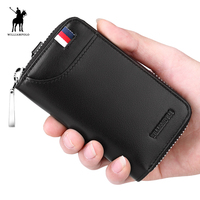 WILLIAMPOLO Fashion Small Genuine Leather Bags 6 Key Holders For Car With Gift Box PL227