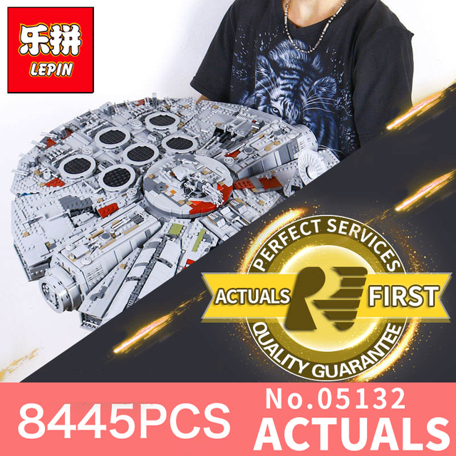 Lepin star wars 05132 star destroyer millennium falcon compatible with LegoINGys 75192 starwars bricks model building blocks toy