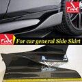 Hochwertige Carbon Fiber Seite Rock Stoßstange Für Lexus RC300 2 Tür Coupe Auto allgemeine Carbon Side Röcke Auto Styling e Stil-in Bodykits aus Kraftfahrzeuge und Motorräder bei