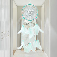 Light Green Hollow-Out Dreamcatcher Pendant Indoor Dream Catcher Innovative Gift Wind Chimes Wedding Home Decoration(China)