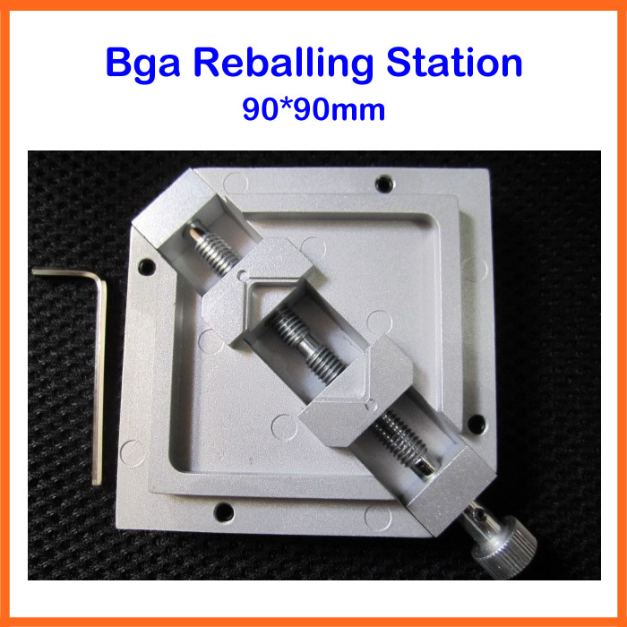 Free shipping Best HT-90 slivery bga reballing station Holder JIG for 90X90 mm stencil free shipping 90